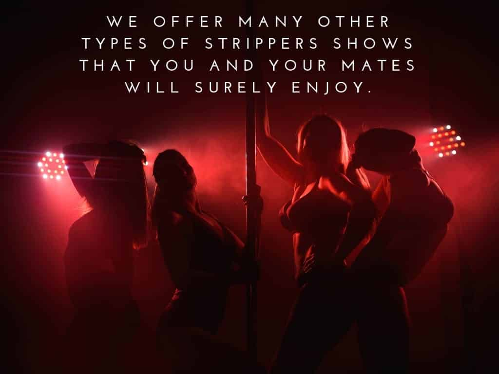 different types of stripper shows